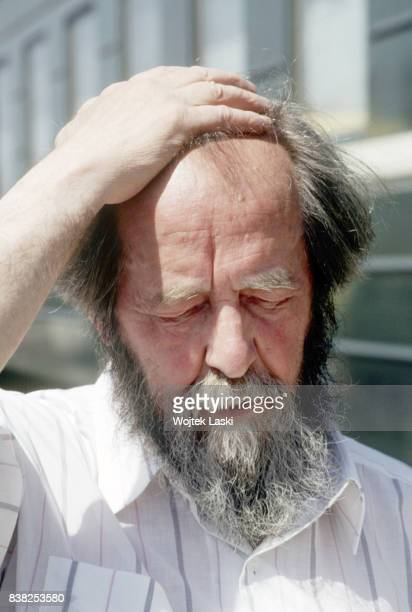 Soviet dissident novelist and Nobel Prize winner Aleksandr Solzhenitsyn during his journey across Russia Blagoveshchensk Russian Far East