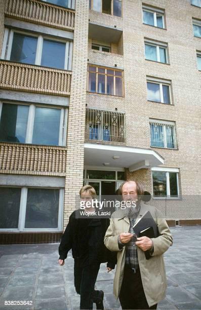 Soviet dissident novelist and Nobel Prize winner Aleksandr Solzhenitsyn in Moscow Russia