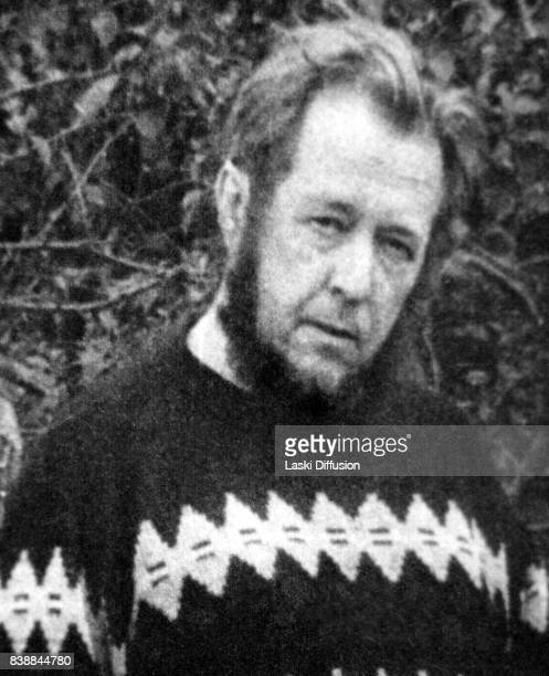 Soviet dissident novelist and Nobel Prize winner Aleksandr Solzhenitsyn in Russia 1974