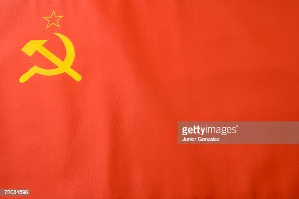 soviet flag - communism stock pictures, royalty-free photos & images