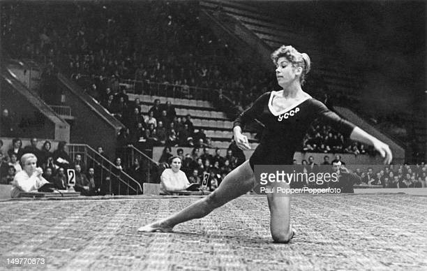 Soviet gymnast Larisa Latynina on her way to victory at the gymnastics championships of the USSR in Moscow 23rd November 1961 From 1964 Latynina held...