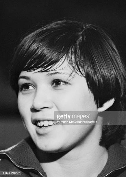 Soviet gymnast Nellie Kim during a Russian gymnastic team exhibition event at Wembley Arena on November 11 1977 in London England