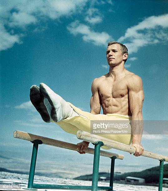 Soviet gymnast Sergey Diomidov pictured training on a set of parallel bars in 1968 Diomidov would go on to represent The Soviet Union in the...
