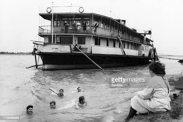 Soviet health resorts a floating rest home for the central committee of the inland waterways workers trade union on the ob river october 1947