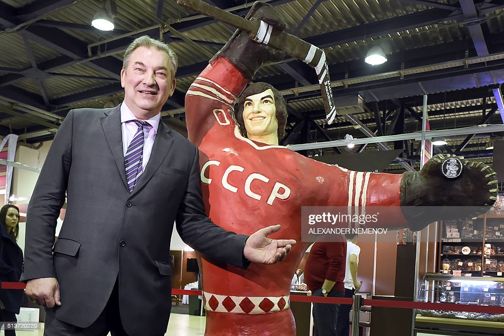 RUSSIA-IHOCKEY-SPORTS-ART-CHOCOLATE-FAIR : News Photo