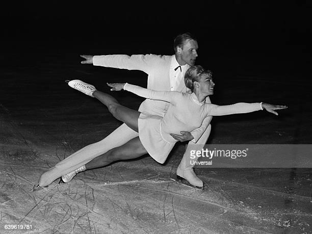 Soviet ice skaters Ludmila Belousova and Oleg Protopopov