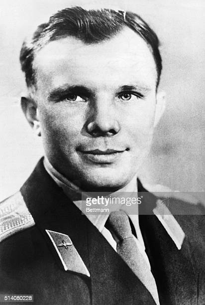 Soviet Major Yuri Gagarin wears his uniform for a portrait before becoming the first human to travel in space in April 1961