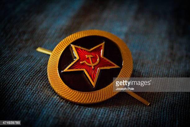 Soviet Navy Hat Badge. Siberia, Russia