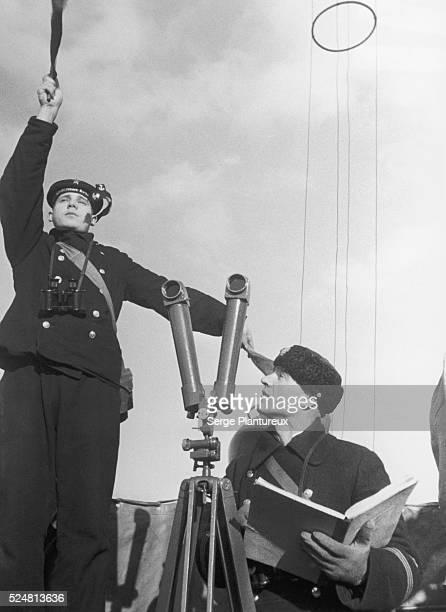 Soviet Navy signalman on the Russian Front