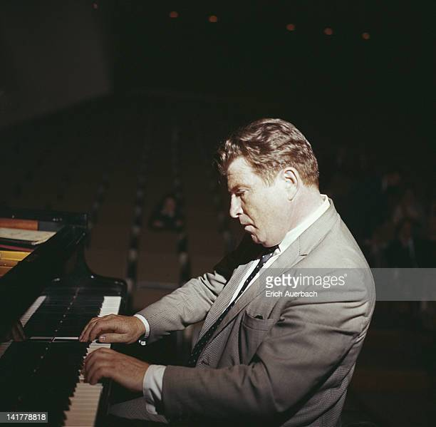 Soviet pianist Emil Gilels at the piano circa 1967