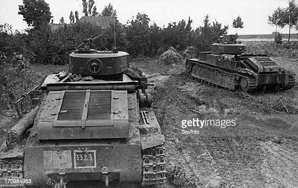Soviet tanks in ambush during the defense of sevastopol, march 1942.