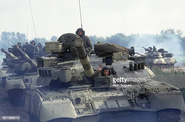 Soviet tanks move through Moscow after a 1991 coup attempt is thwarted. The State Committee for the State of Emergency, a group led USSR Vice...
