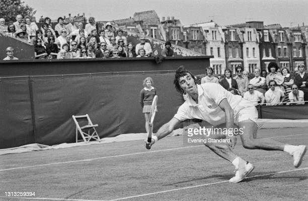 Soviet tennis player Alex Metreveli at the Queen's Club Championships in London, UK, 22nd June 1973.