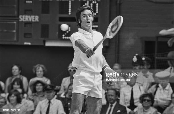 Soviet tennis player Alex Metreveli at the Wimbledon Championships in London, UK, July 1973.