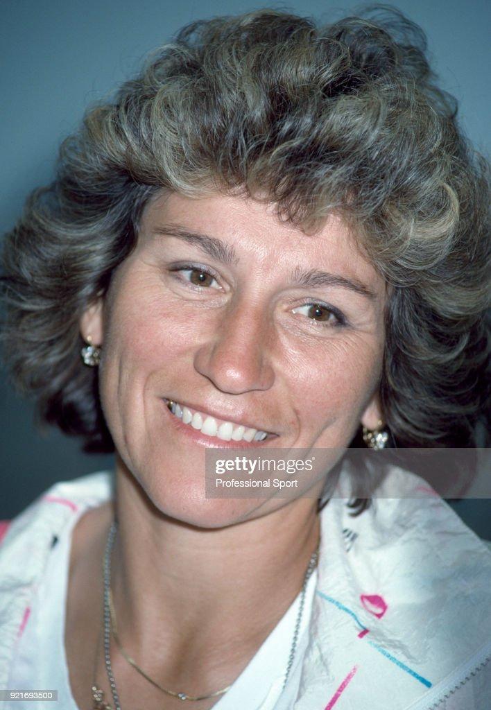 Soviet tennis player Olga Morozova, circa 1990.