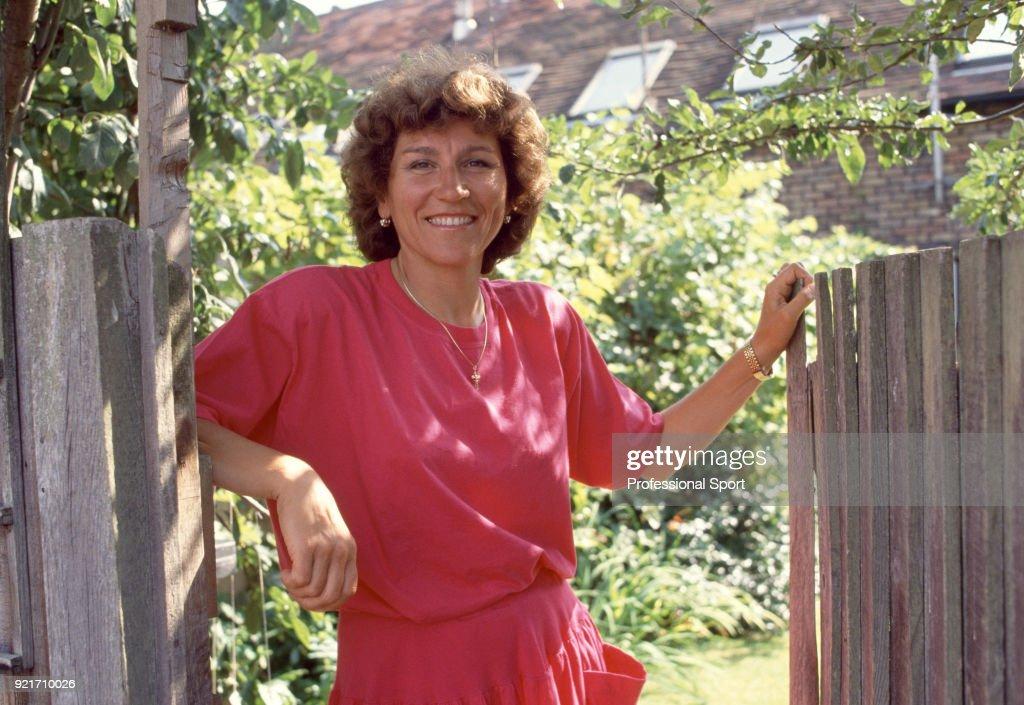 Soviet tennis player Olga Morozova poses at home near Marlow, England circa 1985.