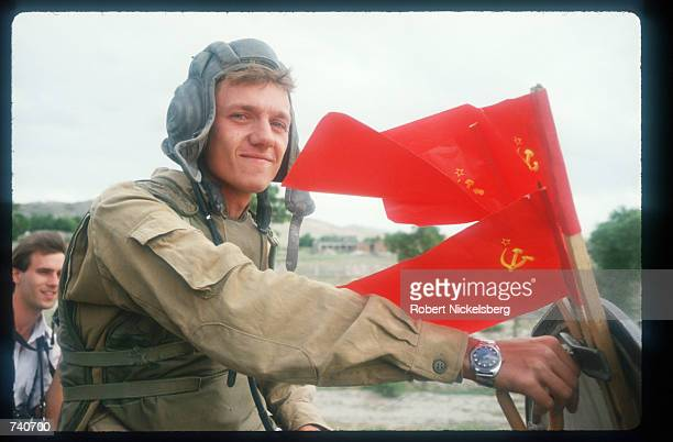 A Soviet troop prepares to leave May 15 1988 in Jalalabad Afghanistan In May 1988 Afghanistan Pakistan the USSR and the United States signed...
