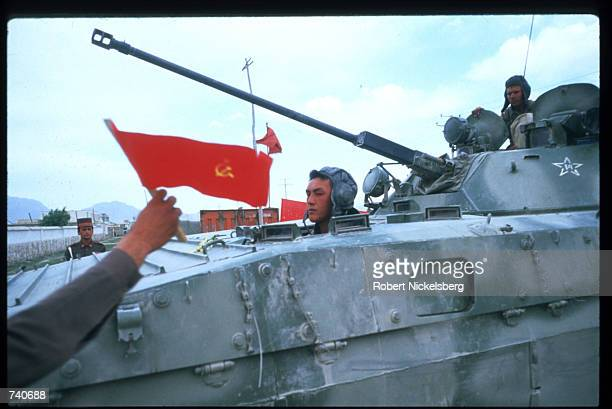 Soviet troops prepare to leave April 25 1988 in Kabul Afghanistan In May 1988 Afghanistan Pakistan the USSR and the United States signed agreements...