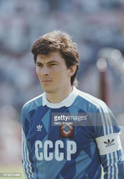 Soviet Union captain and goalkeeper Rinat Dasaev pictured before the 1988 Euro Championships match against England in Frankfurt, Germany on June 18,...