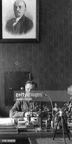Soviet Union Kliment Yefremovich Voroshilov *2301/04021881 Politician military commander USSR portrait on his desk 1933 Photographer James E Abbe...