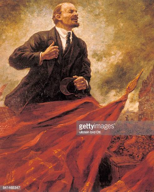 Soviet Union Lenin *22041870 Politician USSR 'Lenin on the stand' painting by Alexander Gerassimov undated