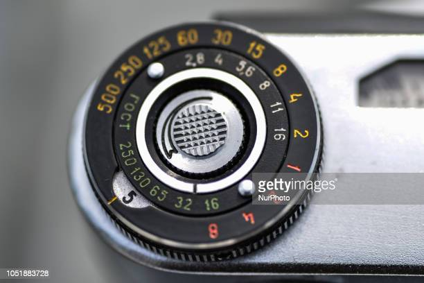 A soviet Union made FED 5 rangefinder camera for M39 lenses a Leica copy in Aachen Germany on October 10 2018
