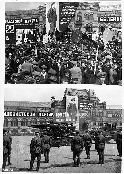 Soviet Union Russian SFSR Moscow May Day military parade on Red Square Photographer James E Abbe Vintage property of ullstein bild