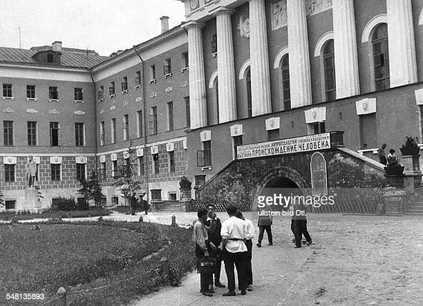 Soviet Union Russian SFSR Moscow View of the Museum of Anthropology of Moscow University around 1925 Photographer James E Abbe Vintage property of...