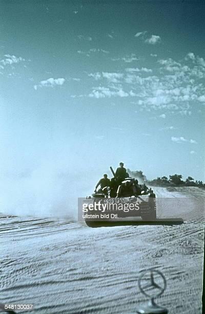 Soviet Union Ukrainian SSR World War II German tank on the advance in the Ukraine summer 1941 Photographer Artur Grimm