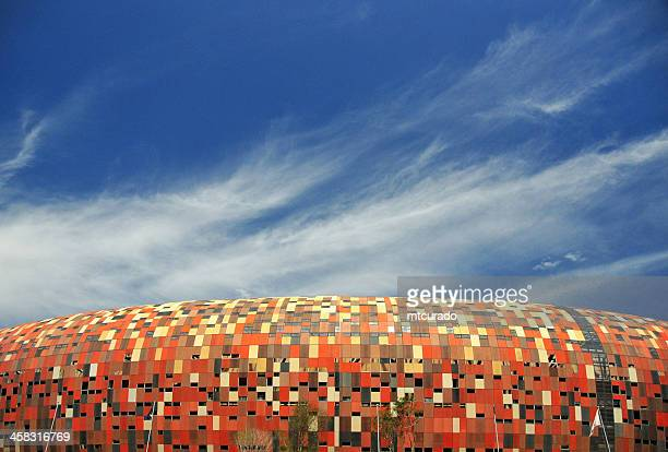 Soweto, Johannesburg, Gauteng, South Africa: Soccer City stadium and sky
