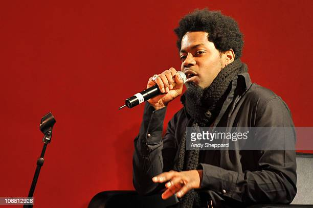 Soweto Kinch discusses influencial Jazz history at The Front Room during the second day of London Jazz Festival 2010 on November 13 2010 in London...