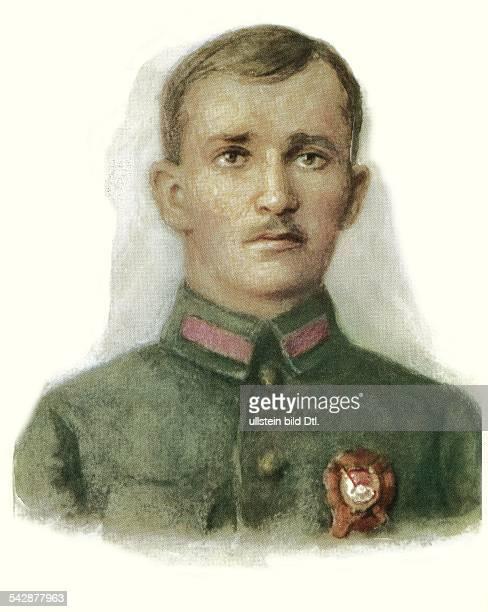 Sowjetunion Sowjetarmee Offiziere Asin Wladimi MartinowitschDivisionskommandeur im Bürgerkrieg 191820Portrait von SJakowlew 1978red army military...