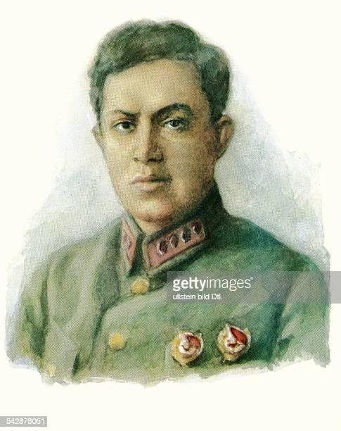 Sowjetunion Sowjetarmee Offiziere Jakir Iona Emmanuilowitsch18961937Divisionskommendeur im Bürgerkrieg 191820Armeegeneral Portrait von SJakowlew...