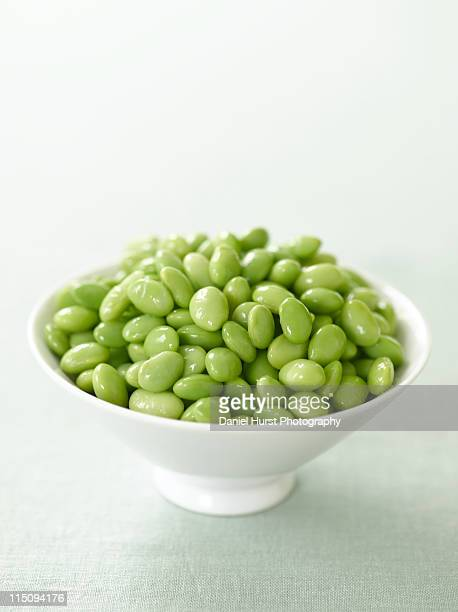 Soy beans in bowl