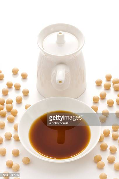 Soy sauce and soybeans