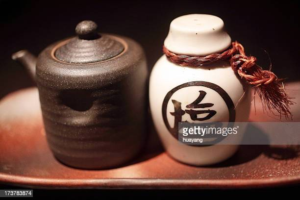 soy sauce cruse and salt cruse - soy sauce stock photos and pictures
