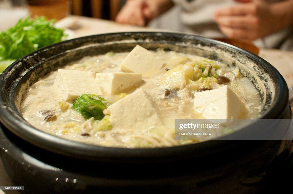 Soybean milk nabe : Stock Photo