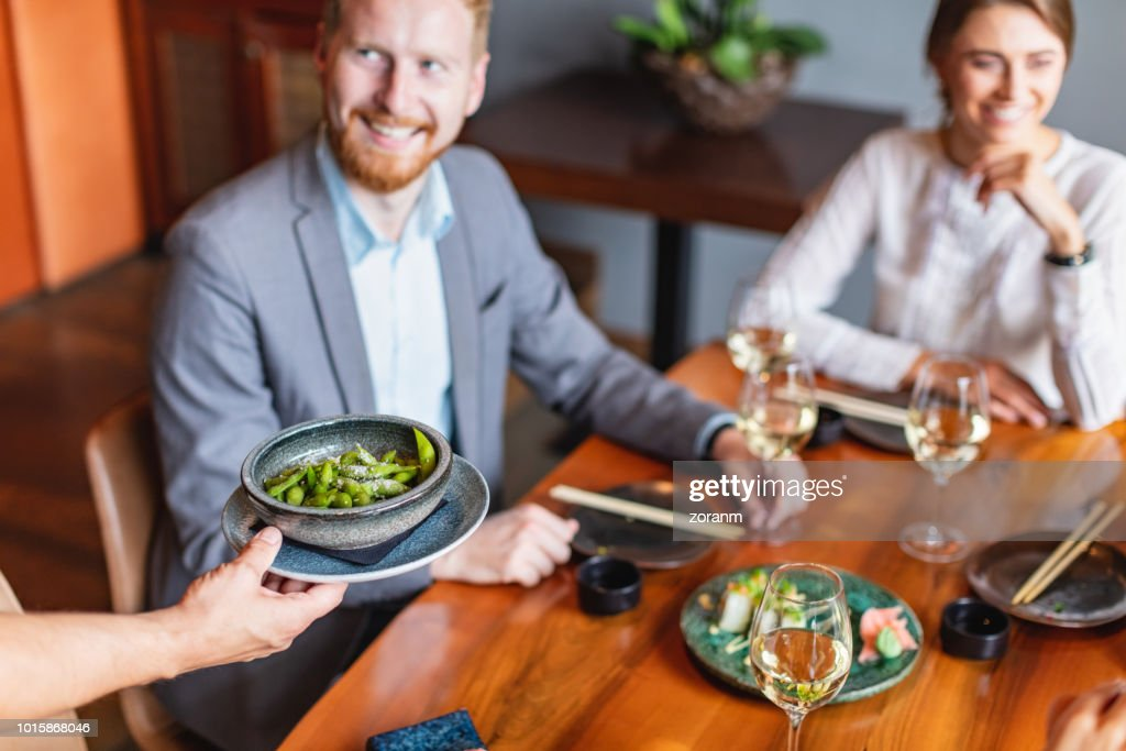 Soybean side dish served : Stock Photo