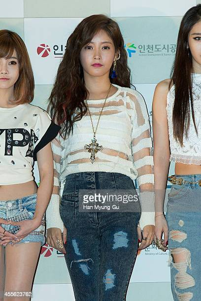Soyeon of South Korean girl group Tara attends the 2014 Incheon KPop Concert on September 17 2014 in Incheon South Korea
