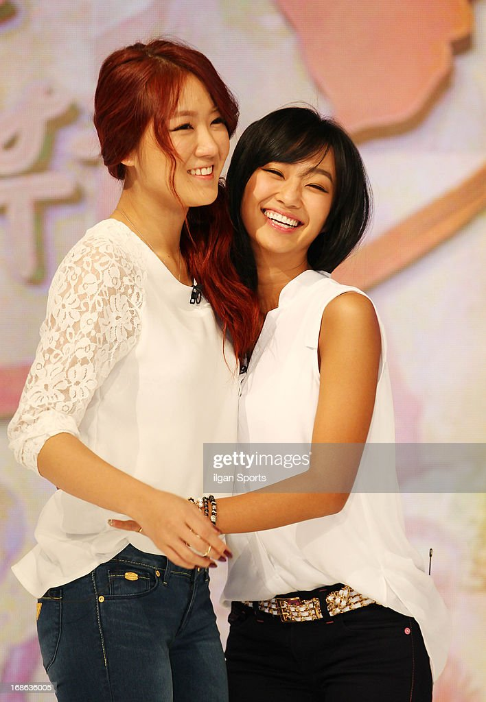 So-You and Hyo-Lyn of Sistar attend the '2013 Hope TV SBS' Press Conference at SBS Prism Tower on May 8, 2013 in Seoul, South Korea.