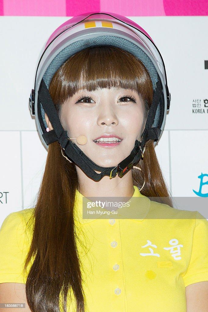 Soyul of South Korean girl group Crayon Pop attends the 2013 Hallyu Dream Concert on October 5, 2013 in Gyeongju, South Korea.