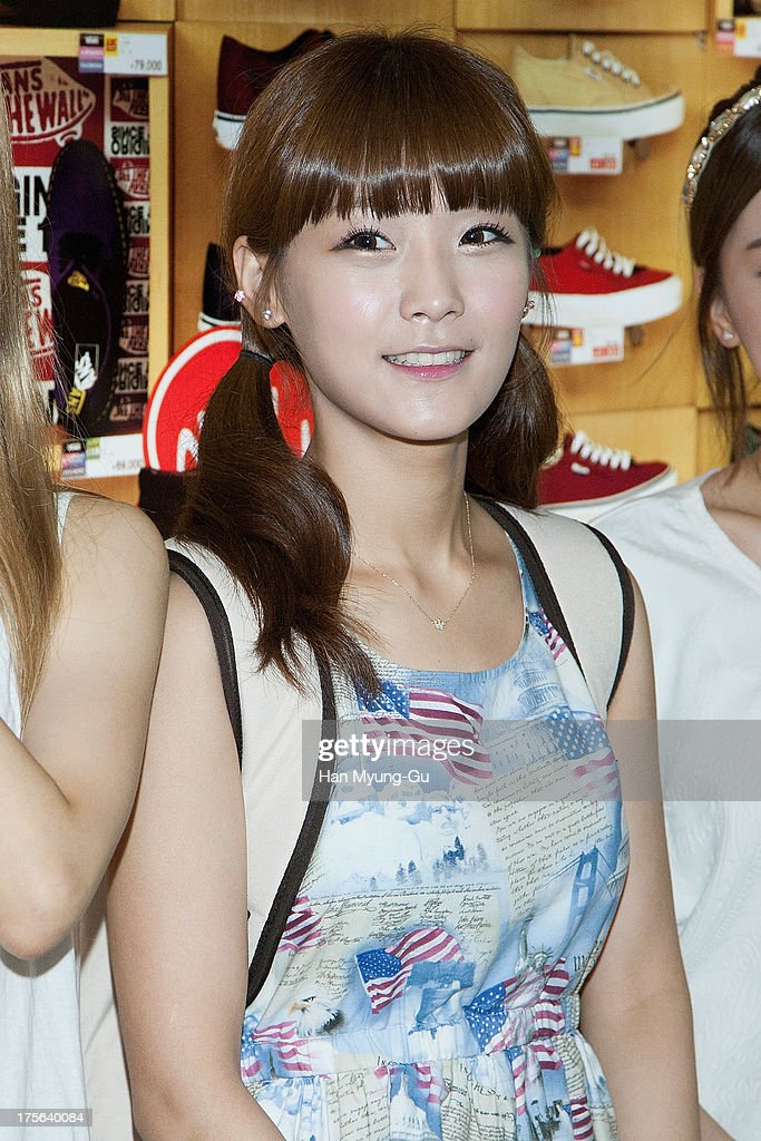 Soyul of South Korean girl group Crayon Pop is seen upon arrival at Gimpo International Airport on August 5, 2013 in Seoul, South Korea.