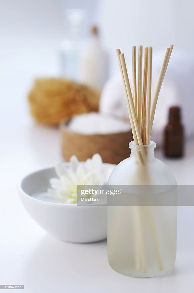 spa aromatherapy on white : Stock Photo