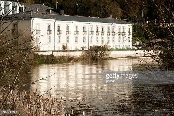 Spa by river Miño in Lugo, Galicia, Spain