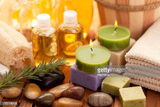 spa concept with orchid - loofah stock photos and pictures