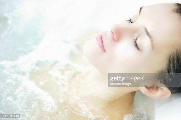 spa dreams - taking a bath stock pictures, royalty-free photos & images