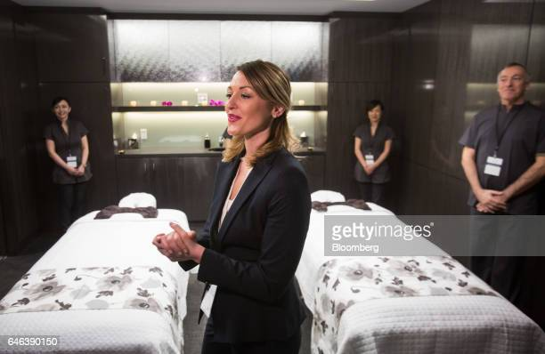 A spa manager gives members of the media a tour of the Spa by Ivanka Trump during the grand opening of Trump International Hotel Tower in Vancouver...