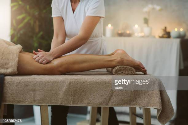 spa massage - leg stock pictures, royalty-free photos & images