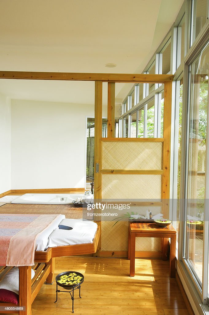 Spa open nature room : Stock Photo
