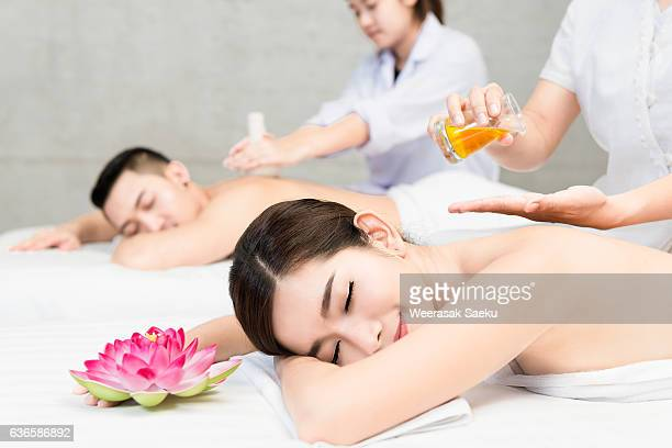 spa salon - thai massage stock photos and pictures